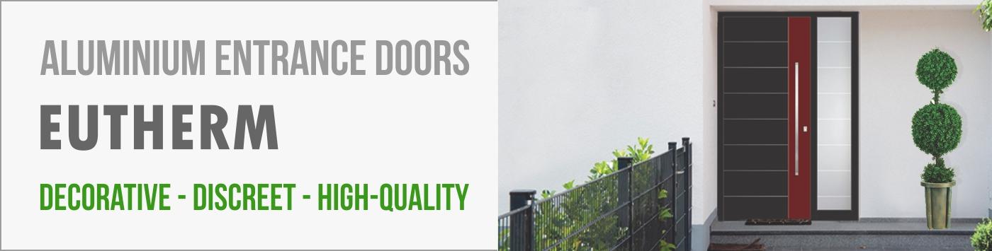 Aluminium entrance doors Eutherm - Decorative - discreet - high-quality