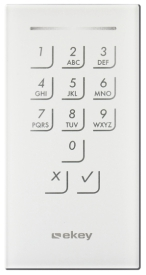 Door keypad white