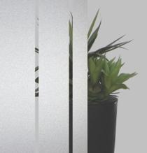 Sandgestrahltes Elemente auf Float-Glas