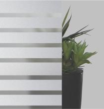 Sandgestrahltes Elemente auf Satinato-Glas