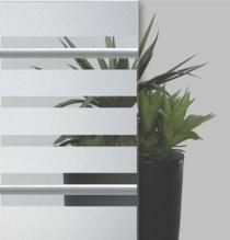 Sandgestrahltes Elemente auf Float-Glas mit Bleiband