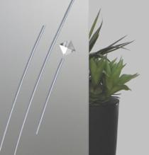 Satinato Glas mit Bleiband und weisser Facette