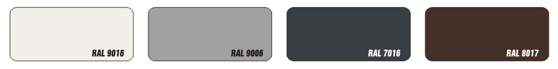 RAL colors - Discount models
