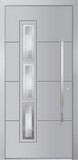 Aluminium door, model Milano, MI 38E