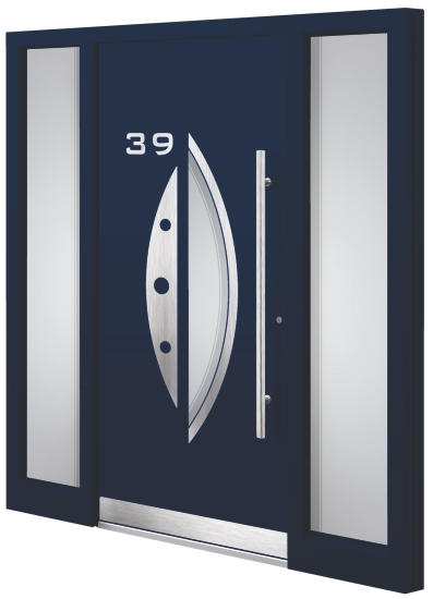 Aluminium entrance door - Model AM 32E