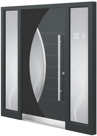 Aluminium (aluminum) entrance door - Model AT 30E