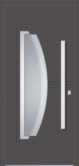 Porte d'ingresso in alluminio - Modello DU 27E