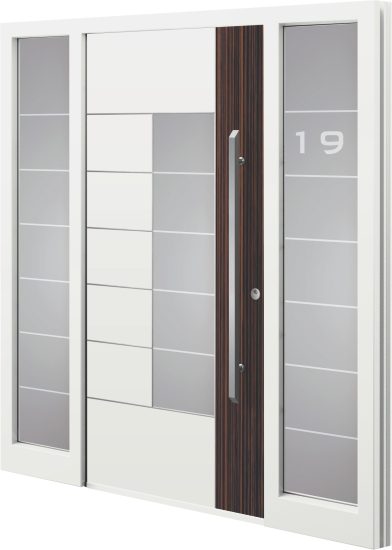 Aluminium (aluminum) entrance door - Model GE 42E