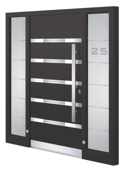 Porte d'entrée aluminium - Modèle LS 14E