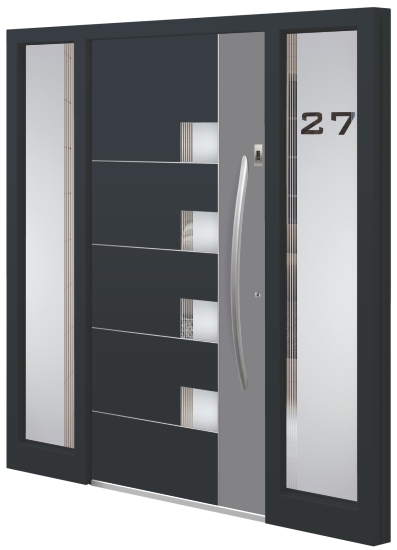 Aluminum entrance door - Model MA 46E