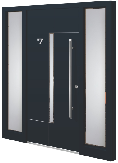 Aluminium door - Model NI 47E