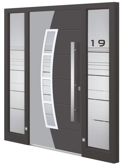Aluminium (aluminum) entrance door - Model VA 25E